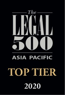 Legal 500 Asia Pacific Top Tier 2020