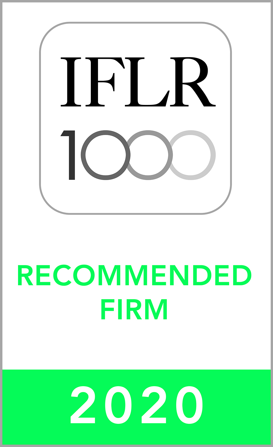 Recommended Firm 2020