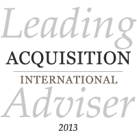Leading Acquisition International Advisor 2013