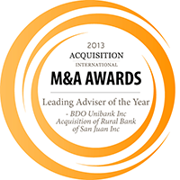 Acquisition International's 2013 M&A Award Winner